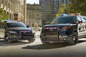Two police cars